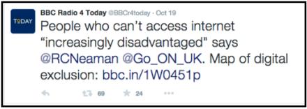 BBC 4 tweet